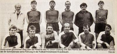 Vorschaubild zur Meldung: Vor 30 Jahren: Schmalensees Fußballer stürmen an die Spitze