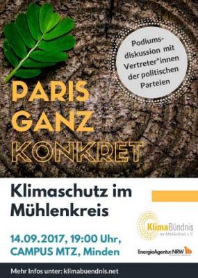 Vorschaubild zur Meldung: Podiumsdiskussion zur Bundestagswahl