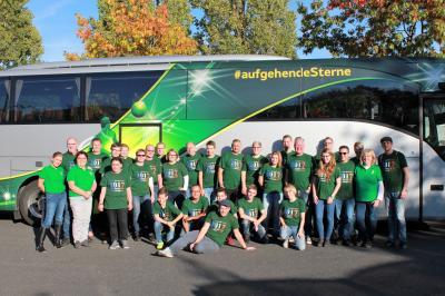 Unsere Truppe beim Ausflug nach Saint-Cyr-sur-Loire im Oktober 2017