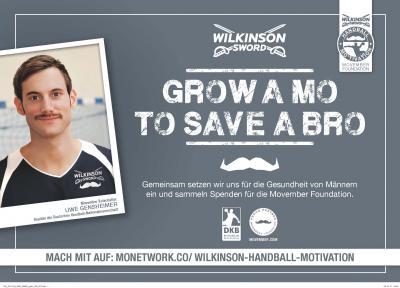 Vorschaubild zur Meldung: Handballstar Uwe Gensheimer erneut Botschafter der Movember Foundation