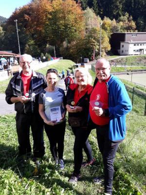 Foto zur Meldung: MTV Nordic Walking Gruppe beim Nordic Aktiv Cup im Harz erfolgreich