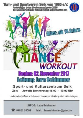 Foto zu Meldung: TSV Selk, Sportangebot: Dance Workout