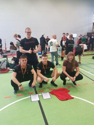 von links nach rechts: Sebastian Preine, Julian Haupt, Nicolas Wilke, Melanie Wirtz