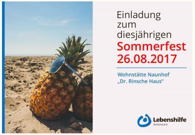 Foto zur Meldung: Sommerfest der Lebenshilfe 2017