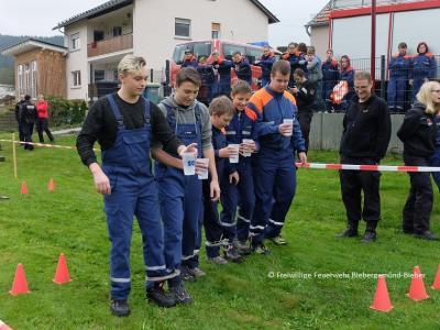 Beim Aktionstag mussten sich die Jugendfeuerwehrleute gegen die Jugendwarte messen