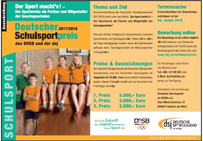 Foto zu Meldung: Deutscher Schulsportpreis - Der Sportverein als Partner und Mitgestalter der Ganztagsschulen!