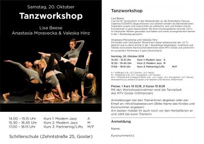 Vorschaubild zur Meldung: Tanzworkshop