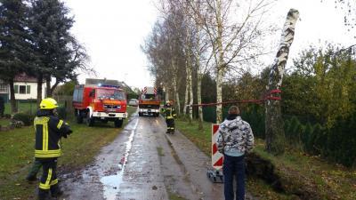 """Vorschaubild zur Meldung: Sturm """"Hewart"""" sorgt für den nächsten Dauereinsatz der Amtsfeuerwehr"""
