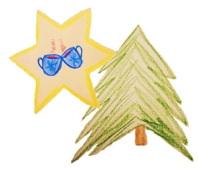 Vorschaubild zur Meldung: Weihnachtsbäume und heißer Glühwein/ Kinderpunsch in Rüscheid für einen guten Zweck