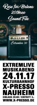 Vorschaubild zur Meldung: Extremlivemusikabend No. 30 im Kulturbahnhof X-Presso