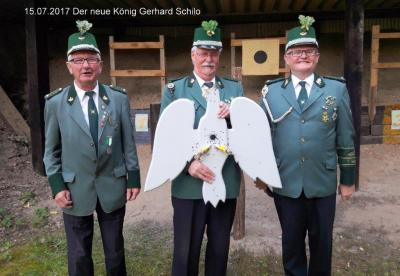 Schützenkönig 2017 Gerhard Schilo