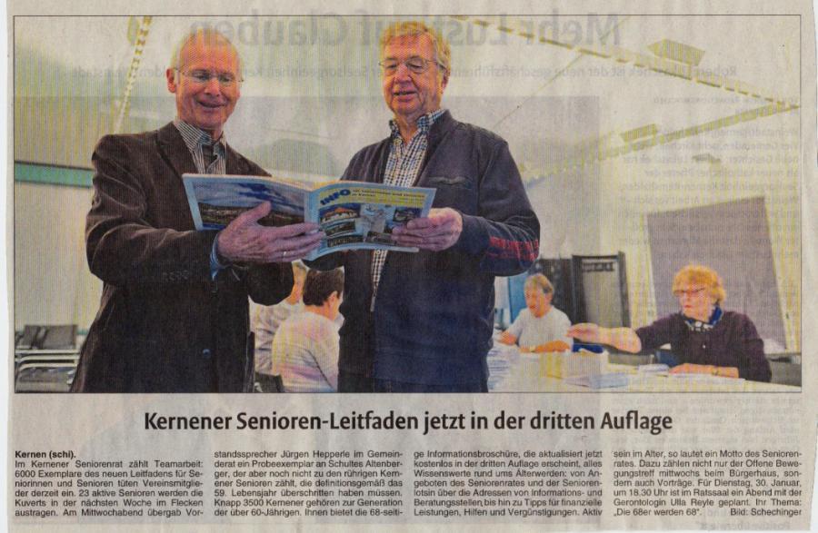 Seniorenrat Gemeinde Kernen Konzertierte Aktion Zum Austragen Der