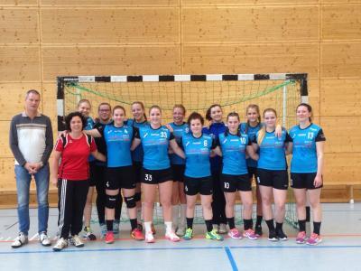 Foto zur Meldung: Handball: weibliche Jugend A holt auswärts einen Punkt