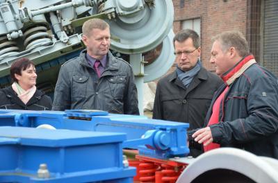 Vorschaubild zur Meldung: Landrat zu Gast beim Handwerk– Herbstbesuche starteten am Donnerstag in Vetschau und Calau