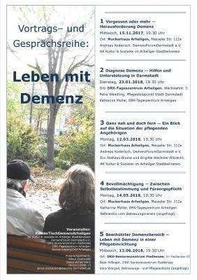 """Vorschaubild zur Meldung: """"Leben mit Demenz"""" Vortrags- und Gesprächsreihe"""