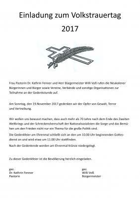 Foto zur Meldung: Einladung zum Volkstrauertag 2017