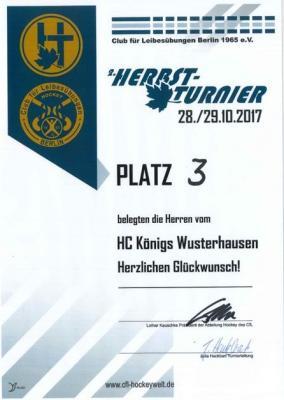 Foto zur Meldung: HCKW Männer belegen hervorragenden 3.Platz beim CfL Berlin