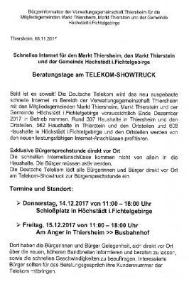 Vorschaubild zur Meldung: Telekom Showtruck - Schnelles Internet für die Gemeinde Höchstädt i. F.