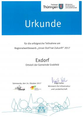 """Vorschaubild zur Meldung: Exdorf bei """"Unser Dorf hat Zukunft"""""""