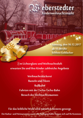 Vorschaubild zur Meldung: Kinderweihnachtsmarkt