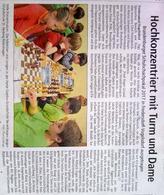 Foto zu Meldung: Schach: Brandenburger Schulschachpokal 2017