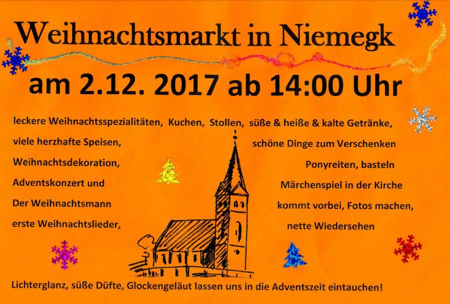 Amt Niemegk - Weihnachtsmarkt in Niemegk am 02.12.2017