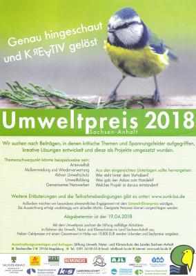 Foto zu Meldung: Umweltpreiswettbewerb 2018 Sachsen - Anhalt