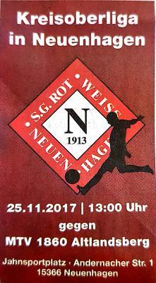 Foto zu Meldung: Fußball: Heimspiel am 25.11.2017
