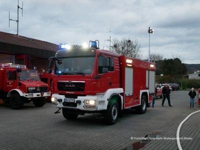 Das neue TLF 4000 beim Empfang am Feuerwehrstützpunkt Bieber