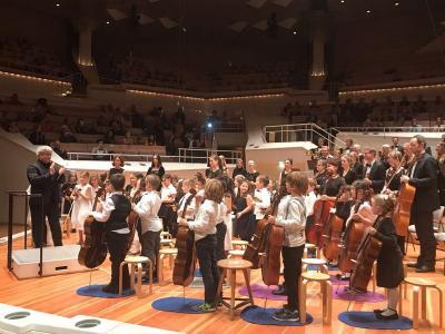 Foto zur Meldung: PANORAMA-Kinder begeistern Besucher der Berliner Philharmonie