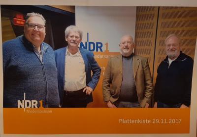 vlnr. Michael Thürnau NDR, Manfred Görg, Hans-Jörg Kohlenberg, Bernhard Loewa
