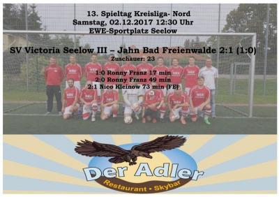 Vorschaubild zur Meldung: 13. Spieltag Kreisliga Herren
