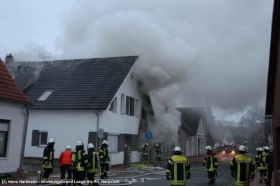 Vorschaubild zur Meldung: Wohnhaus bei Großbrand komplett beschädigt