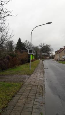 Geschwindigkeitsmessanlage in Wiepersdorf, 05.12.2017