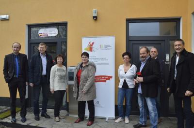 Vorschaubild zur Meldung: Landrat besucht K&K Meisterservice in Meuro