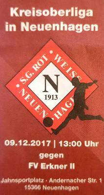 Vorschaubild zur Meldung: Fußball: Heimspiel am 09.12.2017