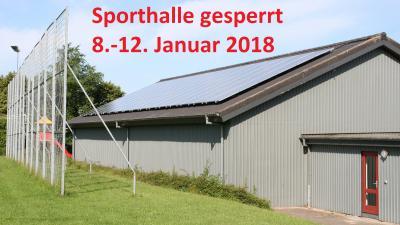 Foto zu Meldung: Sperrung der Sporthalle im Januar 2018 – Neue Leuchtmittel werden installiert