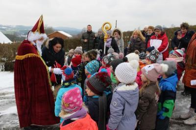Foto zur Meldung: Der Nikolaus besuchte die Kleinen des Kindergartens