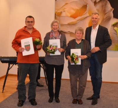 Tag des Ehrenamtes mit Herr Peters, Frau Warnick und Frau Klinkenberg