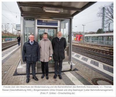 """Foto zu Meldung: """"Tor zum Flughafen"""": Bahnhof Holzwickede modernisiert und endlich barrierefrei"""