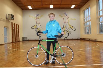 Foto zur Meldung: VfH Dahnsdorf: Neues Kunstrad für Dahnsdorfer Kunstradfahrer