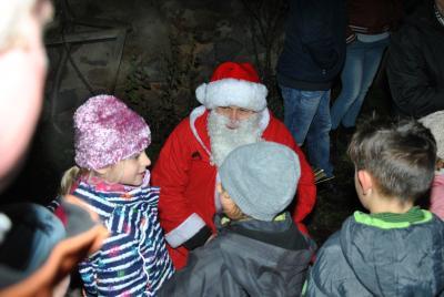 Auch der Weihnachtsmann war zu Gast auf der Burg zu Grabow