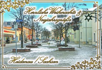 Foto zur Meldung: Heidenauer Weihnachtspostkarten