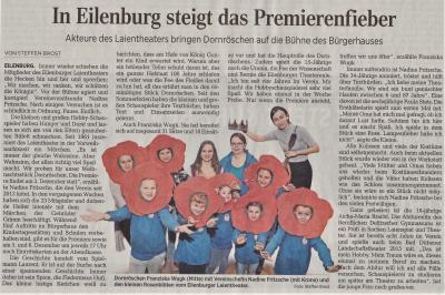 Vorschaubild zur Meldung: LVZ: In Eilenburg steigt das Premierenfieber
