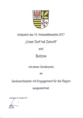 Vorschaubild zur Meldung: Auszeichnung für Butzow