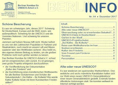 Vorschaubild zur Meldung: BERLIN INFO Nr. 64 erschienen
