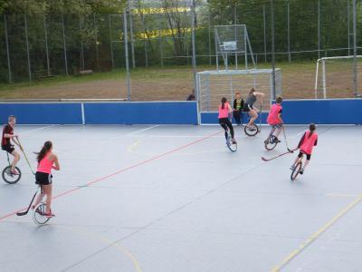 Vorschaubild zur Meldung: Teilnahme am Einradhockeyturnier in Steyr/ Österreich vom 28.4 bis 30.4