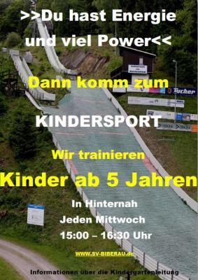Plakat Kindergartensport