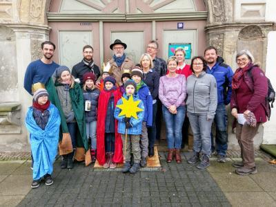 Foto zur Meldung: Sternsinger im Bad Schmiedeberger Rathaus