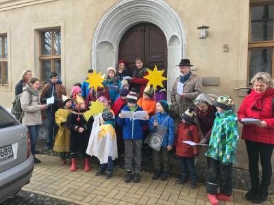 Foto zur Meldung: Wieder waren die Sternsinger in Bad Schmiedeberg